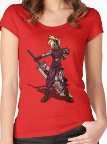 Zombie Cloud (Final Fantasy VII) Women's Fitted Scoop T-Shirt