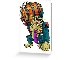 Zombie Donkey Kong Greeting Card