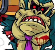 Zombie Donkey Kong Sticker