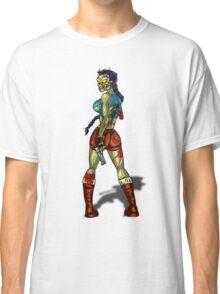 Zombie Lara Croft (Tomb Raider) Classic T-Shirt