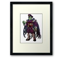 Zombie M Bison (Street Fighter) Framed Print