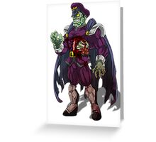Zombie M Bison (Street Fighter) Greeting Card