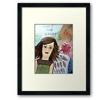 Share Your Light - Mixed Media Angel Framed Print
