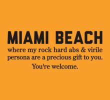 Miami Beach Abs by Location Tees