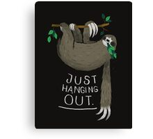 just hanging out. Canvas Print