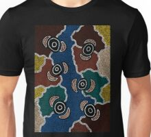 Aboriginal Art Authentic - Riverside Dreaming Unisex T-Shirt