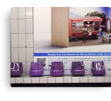 Purple metro Canvas Print