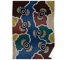 Aboriginal Art Authentic - Riverside Dreaming Poster