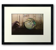 It's a small world. Framed Print