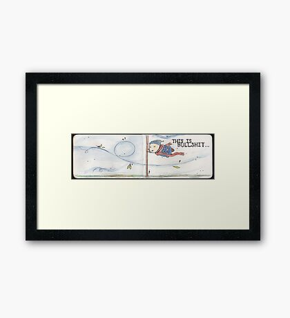 The Wind Blows Framed Print