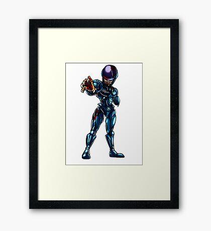 Zombie Robocop Framed Print