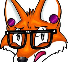 Hipster Fox by wallyhawk