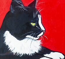 Black and White and Red All Over by Carole Chapla