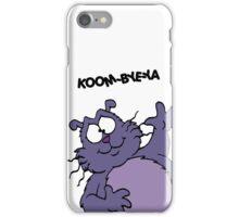 Eek the Cat - Koom-Bye-Ya - Black Font iPhone Case/Skin