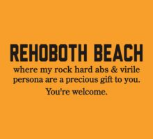 Rehoboth Beach Abs by Location Tees