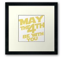 Star Wars - May the 4th Framed Print