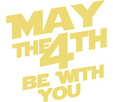 Star Wars - May the 4th Photographic Print