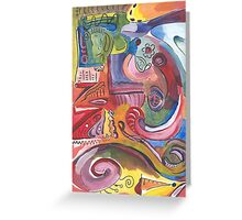 Calculated Mess Abstract Painting Greeting Card