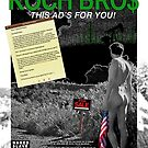 """""""Koch Bros"""" Full Page Ad for NakedSlave4Art.com Published in Artillery Magazine by JohnnyNaked"""