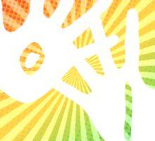 holi hands of color Sticker