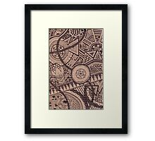 Patterned Cardboard Framed Print