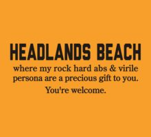 Headlands Beach Abs by Location Tees