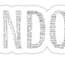 FANDOM (Sherlock, Doctor Who, Hannibal, Supernatural, ALL) Sticker