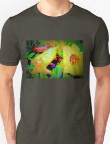 Tropical view of Allamanda flowers Unisex T-Shirt