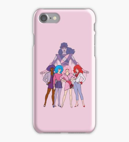 Jem and the Holograms - Group with Synergy - Color iPhone Case/Skin