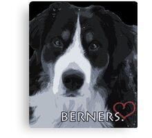 Berner love. Canvas Print