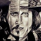 Four Faces of Johnny Depp by MadVonD