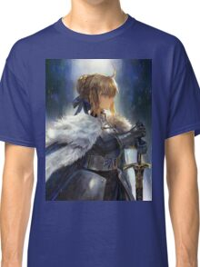 Fate/Zero Saber Wallpaper Poster Classic T-Shirt