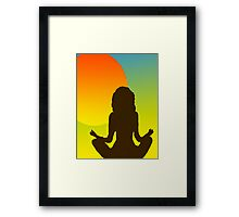 Sunrise Yoga Framed Print