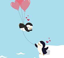Penguin Love by somethingburns