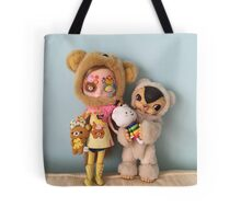 Blythe and toys field kuma  Tote Bag