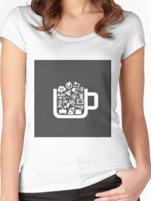 Industry a cup Women's Fitted Scoop T-Shirt
