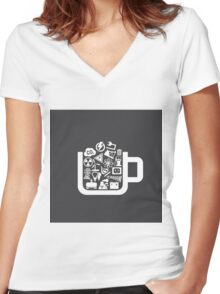 Industry a cup Women's Fitted V-Neck T-Shirt