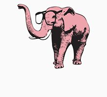 Pink Elephant With Sunglasses Womens Fitted T-Shirt
