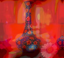 Modern Still Life with a Gerbera flower by walstraasart