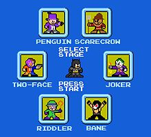 8-bit Batman/Megaman Mash-up Stage Select by 8 Bit Hero
