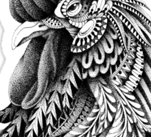 Ornately Decorated Rooster Sticker