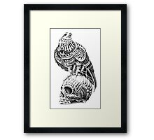 Red-Tail Skull Framed Print