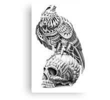 Red-Tail Skull Metal Print