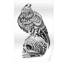 Red-Tail Skull Poster
