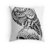 Red-Tail Skull Throw Pillow