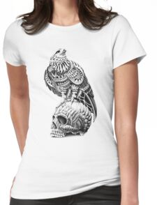 Red-Tail Skull Womens Fitted T-Shirt