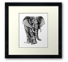Ornate Elephant v.2 Framed Print