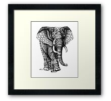Ornate Elephant v.2 Framed Print