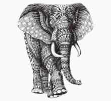 Ornate Elephant v.2 Kids Clothes