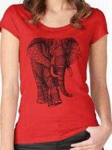 Ornate Elephant v.2 Women's Fitted Scoop T-Shirt